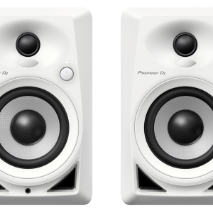 Pioneer DM-40 4″ Compact Active Reference Monitor Speakers (White)