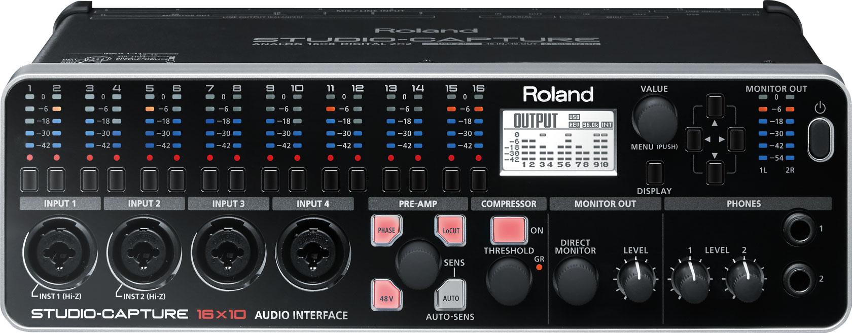 roland ua 1610 studio capture usb audio interface metro sound and music. Black Bedroom Furniture Sets. Home Design Ideas